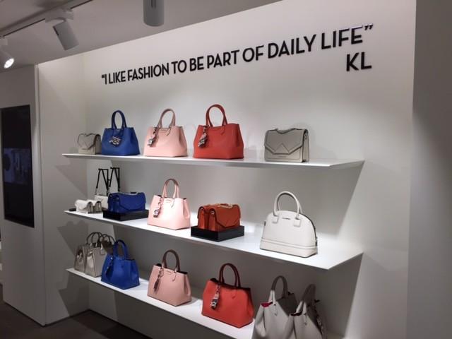 Karl lagerfeld pop up store minimalistisch frankfurt am main