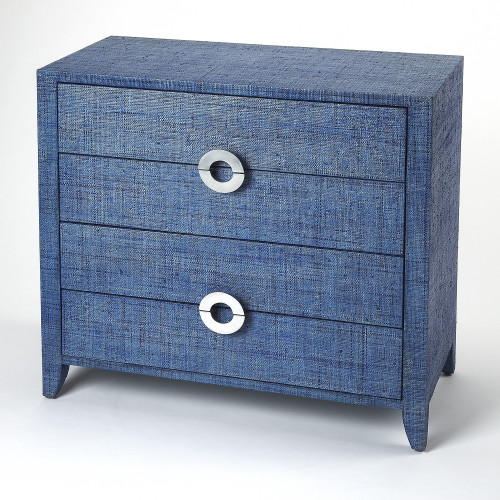 Amelle 4 Drawer Accent Navy Chest - ONE TIME LISTING