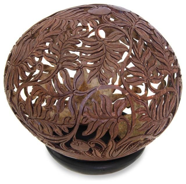 Wild Shrubs Coconut Shell Sculpture