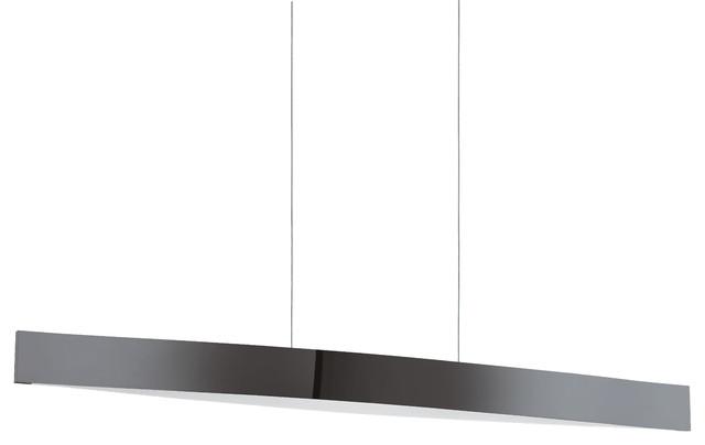 4x6w Led Pendant, Matte Nickel Finish, Black / Chrome.