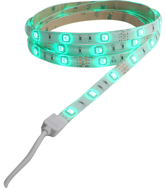 Westek LED Color Changing Tape Light with Remote, 6' - Undercabinet Lighting - by Toolbox Supply