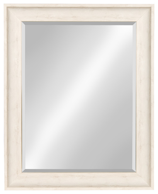 Kate And Laurel Mckinley Framed Wall Mirror, White, 22.5x28.5.