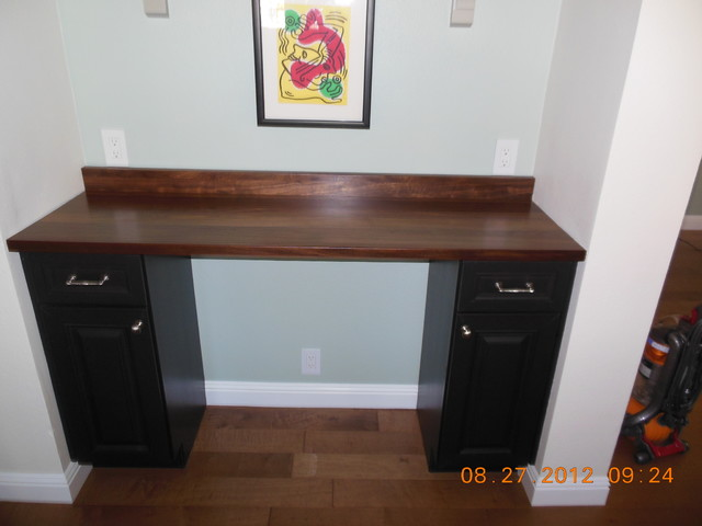 After Custom Desk With Wood Countertop Atlanta By