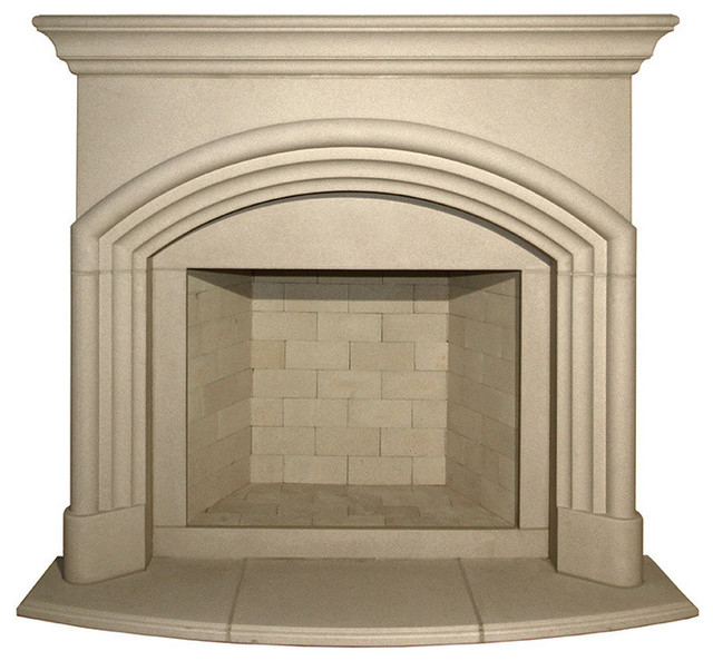 Yorkshire Cast Stone Fireplace Mantel, Buff