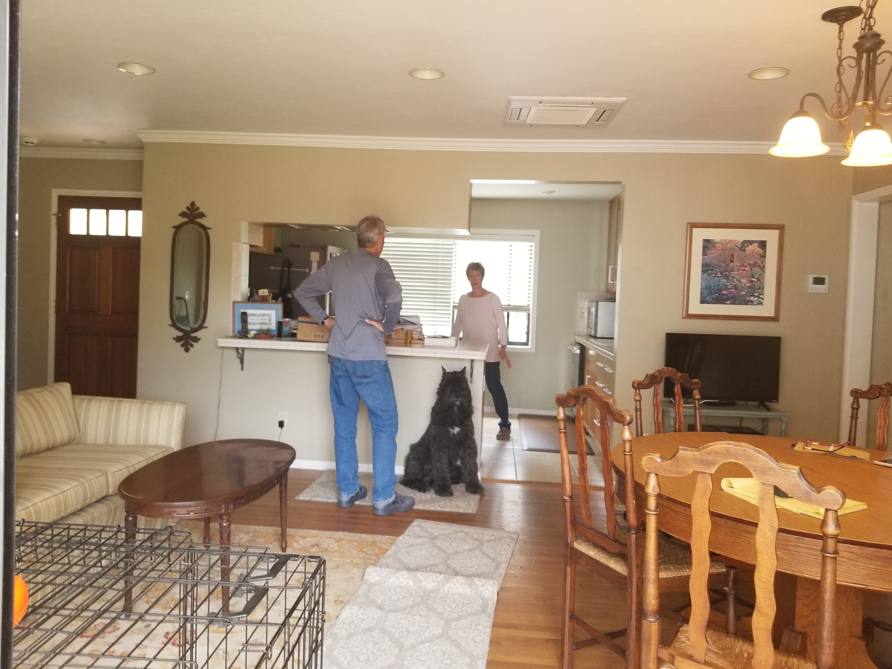 Point Loma kitchen relocation within the existing space!