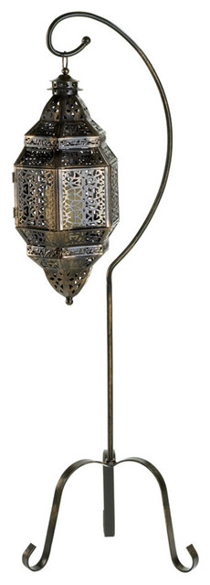 Moroccan Candle Lantern With Stand.
