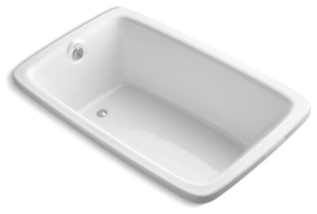"""Bancroft 66""""x42"""" Drop-In Bath, White."""