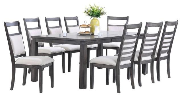Shades of Gray 9-Piece Dining Set