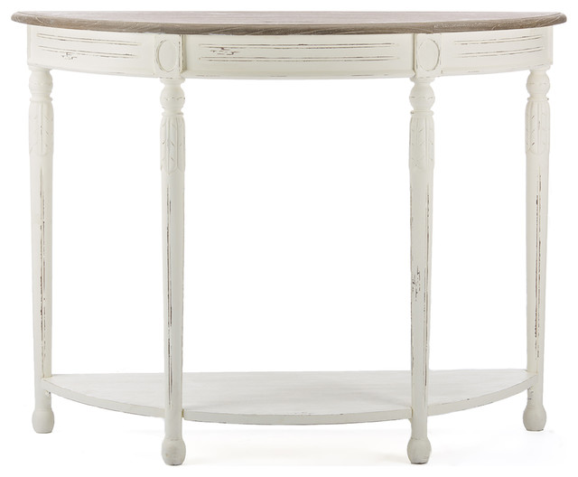 Vologne Traditional White Wood French Console Table