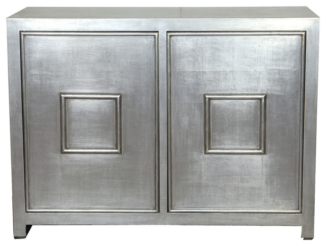 Port 68 Avenue Silver Cabinet - Contemporary - Accent Chests And ...