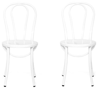 Bistro Chairs, Set of 2, White