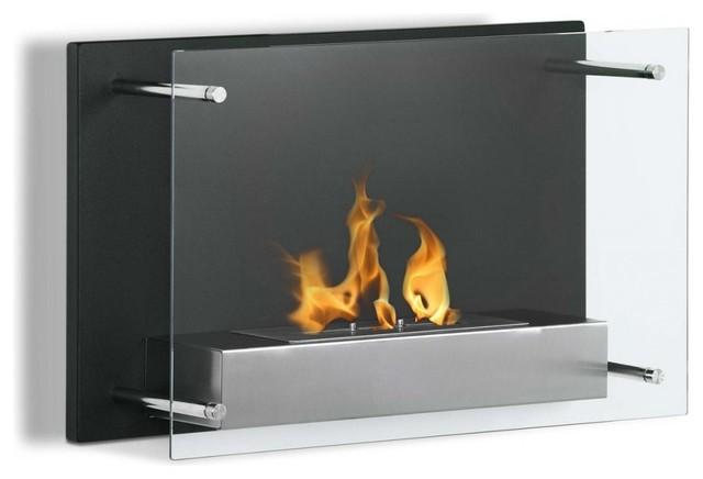 """Regal Flame Milan 24"""" Ventless Wall Mounted Bio Ethanol Fireplace."""
