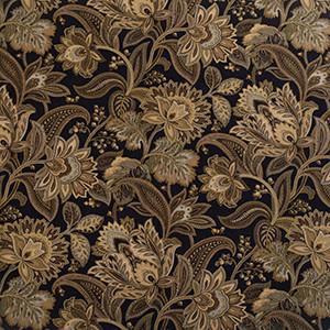 Designer Roman Shades Plain Fold, 37wx64h, Jacobean Blackbird.