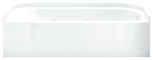 """Sterling Accord 30""""x60""""x15"""" Vikrell Right-Hand Bath, White."""