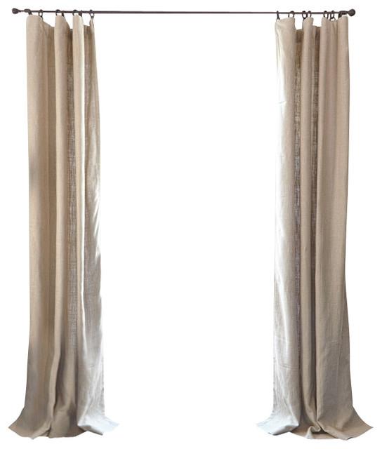 Barn Willow Belgian Textured Linen Drapery Flax Curtains Houzz
