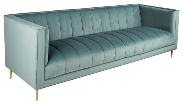 Scallop Sofa, Seafoam