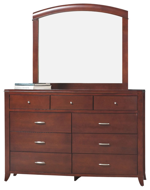 Modus Brighton Dresser With Mirror In Cinnamon.
