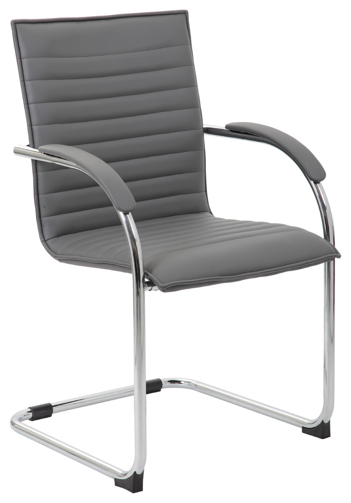Slate Grey Boss Office Products B9580DW-SG Chairs Guest Seating