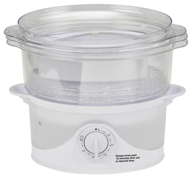 Kitchen Living Food Steamer: Kalorik Electric 3 Tier Food Steamer