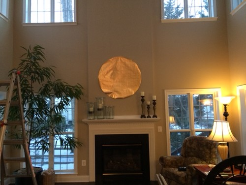 Large Clock Placement Over Fireplace