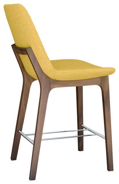 Astonishing Eiffel Wood Stools American Walnut Base Amber Camira Wool Inzonedesignstudio Interior Chair Design Inzonedesignstudiocom