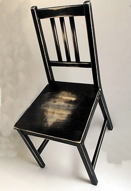 hand distressed 'worn out' dining chair - Rustic - Living Room Chairs