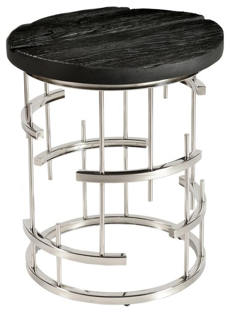 Morpheus Side Table, Charcoal.
