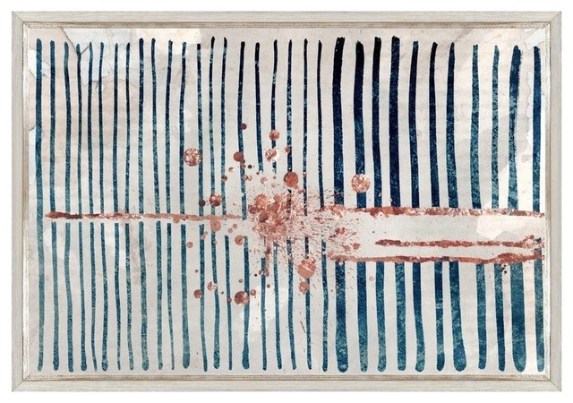 "Oliver Gal ""Love Force Field Copper"" Framed Art, 24""x16"""