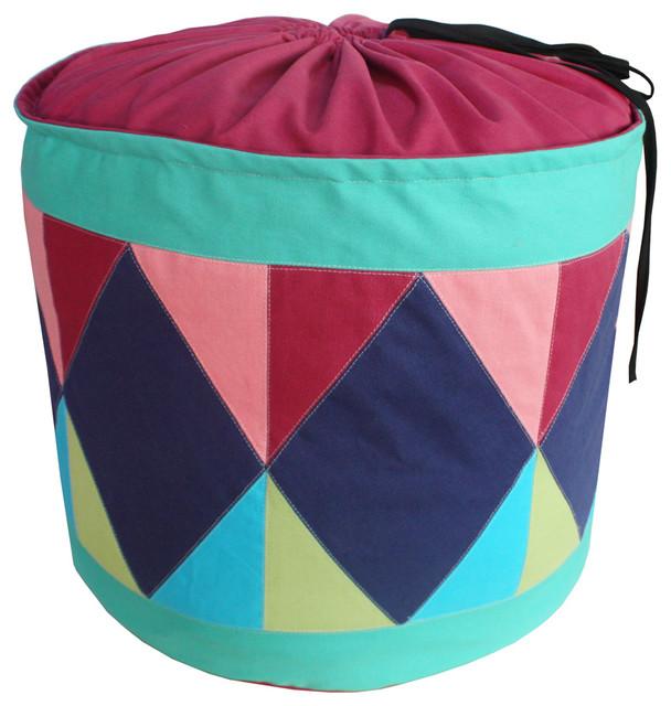 Stylish Canvas Foldable Laundry Basket Storage Bag Laundry Bins Rose.