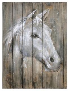 Reclaimed Wood Horse Wall Art 24 Quot X32 Quot Farmhouse