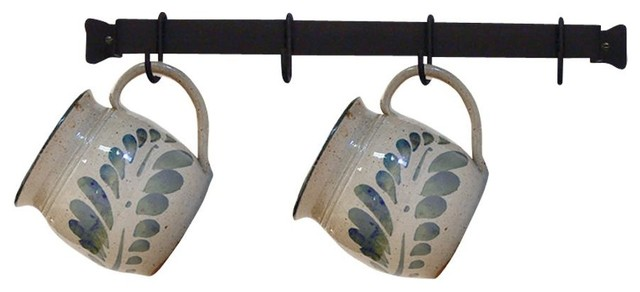 Wrought Iron 4 Cup Rack Wall Mount Kitchen Rack.
