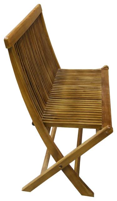 Ala Teak Wood Indoor Outdoor Patio Garden Yard Folding Chair Seat Teak Chair.