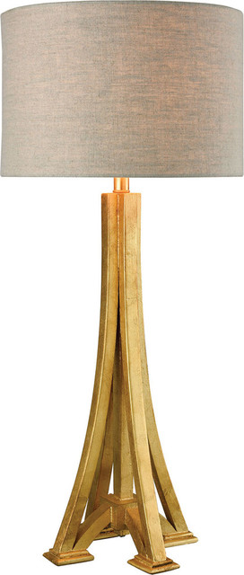 Lexpo table lamp antique gold leaf medium contemporary table lamps