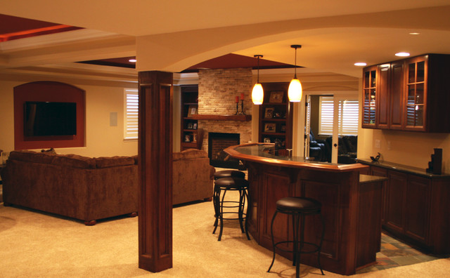 Basement Finish North Denver Colorado Transitional Home Bar Denver By Brothers Construction