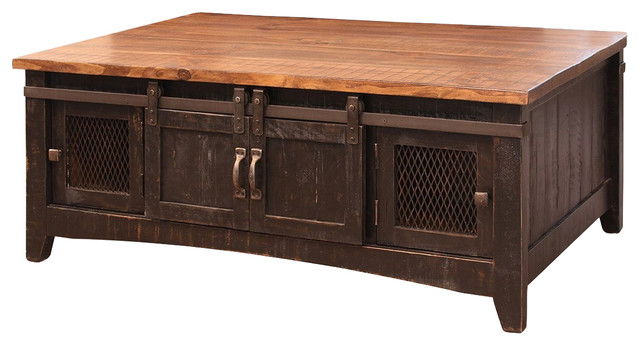 Solid Pine Coffee Table.Greenview Black Solid Pine Coffee Table Mash Doors