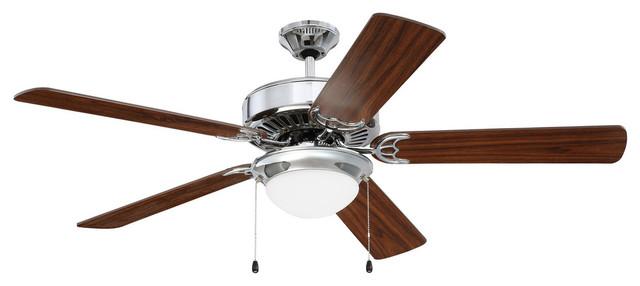 52 Pro Energy Star 209 Ceiling Fan, Chrome.