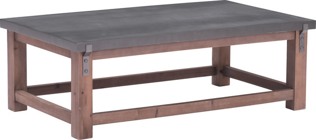 Greenpoint Coffee Table Gray And Distressed Fir Industrial Tables