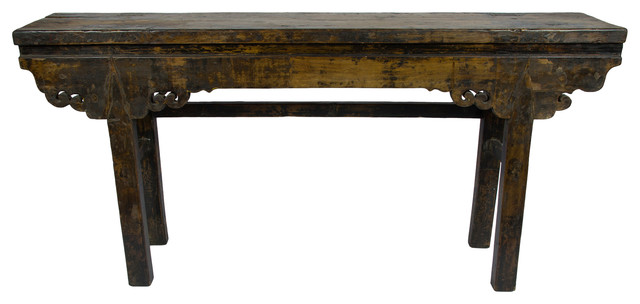 Consigned Chinese Altar Console Table Traditional Console Tables
