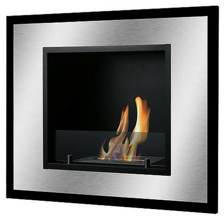 Bellezza Mini Wall Mounted/recessed Ventless Ethanol Fireplace.