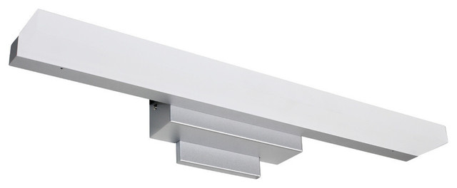 lucie led light satin nickel contemporary bathroom vanity lighting - Modern Bathroom Vanity Lighting