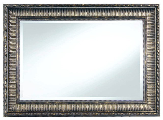 wall mirror 20x30 ribbed pewter traditional wall mirrors