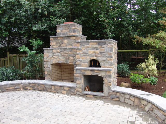 Great Outdoor Fireplace With Pizza Oven Traditional Within Outdoor Fireplace And Pizza Oven
