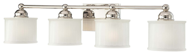1730 Series 4 Light Bathroom Vanity Light in Polished Nickel