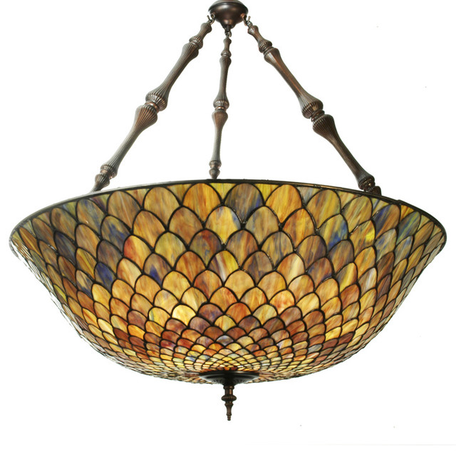 Meyda lighting 82098 36w tiffany fishscale inverted pendant meyda lighting 82098 36w tiffany fishscale inverted pendant aloadofball Image collections