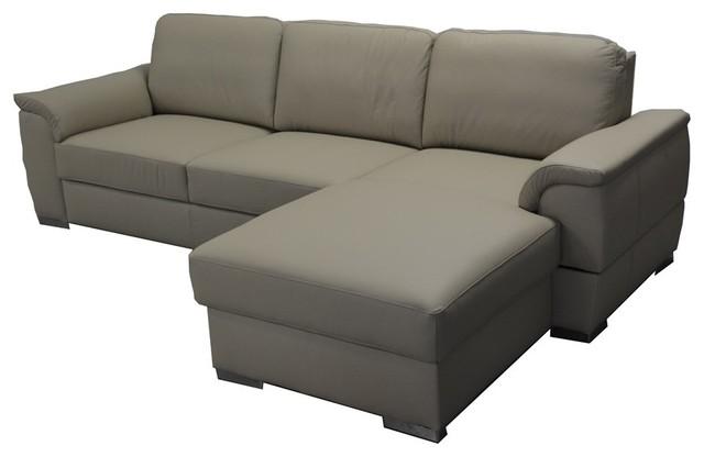 Ramos Leather Sectional Sleeper Sofa Right Corner