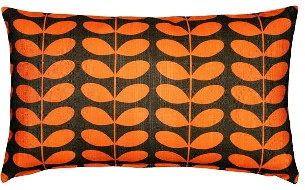 Pillow Decor - Mid-Century Modern Orange Throw Pillow 12x20.