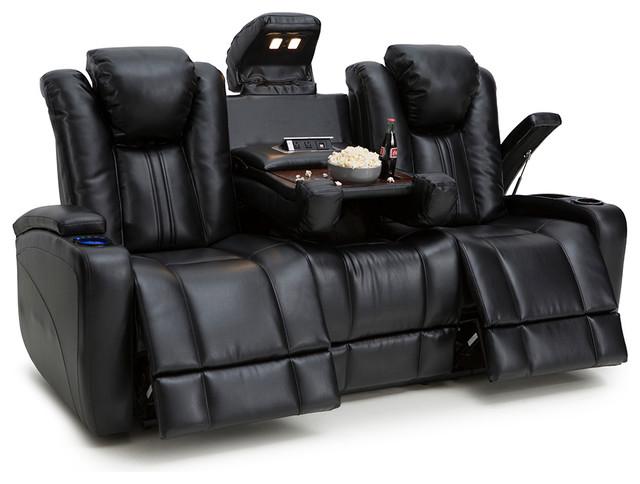 Seatcraft Innovator Bonded Leather PWR Headrest, Recline, Sofa Fold Table
