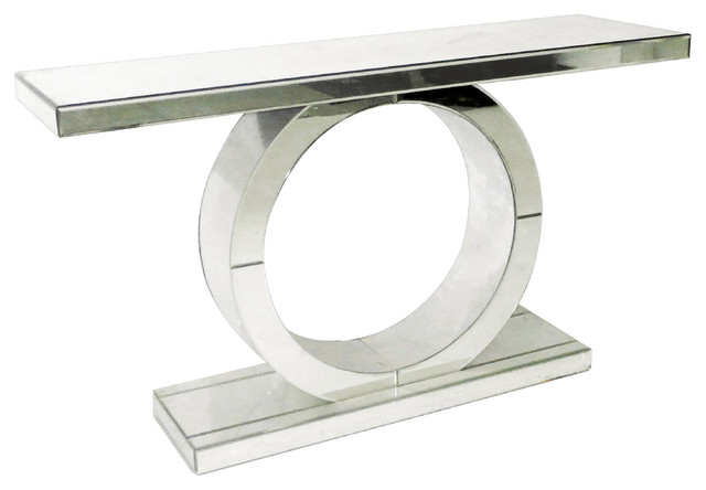 Mirrored Circle Console Table Contemporary Console Tables by R2H