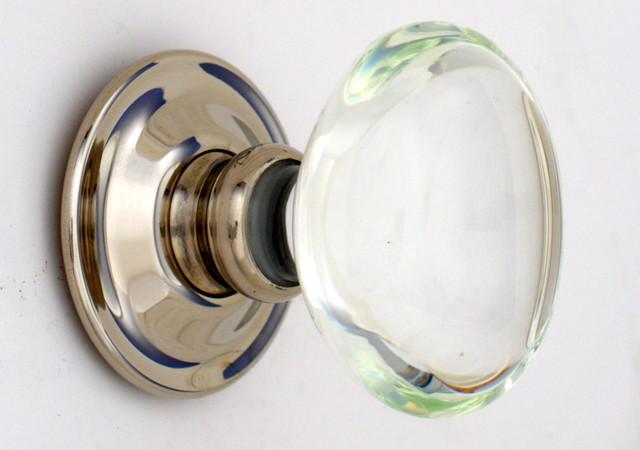 Oval glass knobs