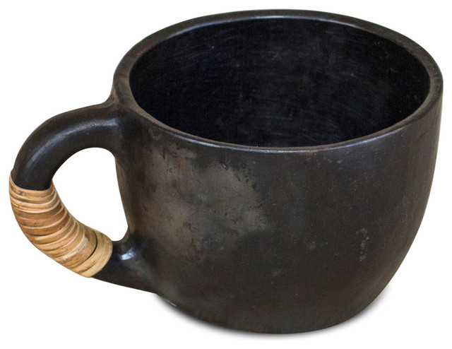 Handmade black ceramic cup